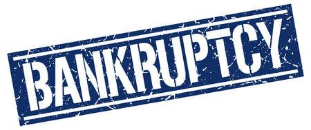 bankruptcy: bankruptcy square grunge stamp