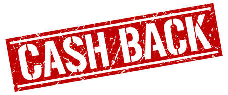 cash back: cash back square grunge stamp