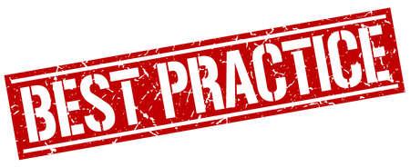 best practice: best practice square grunge stamp