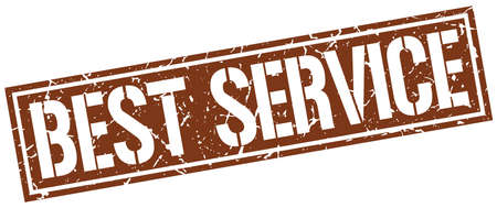 best service: best service square grunge stamp Illustration