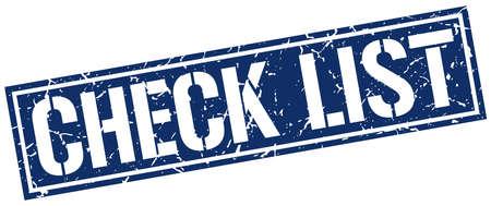 check list: check list square grunge stamp