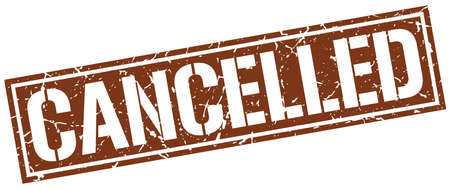 cancelled: cancelled square grunge stamp