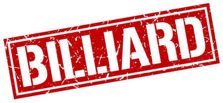 billiard: billiard square grunge stamp Illustration