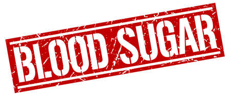 blood sugar: blood sugar square grunge stamp Illustration