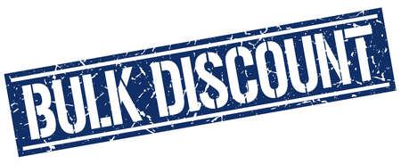 bulk: bulk discount square grunge stamp