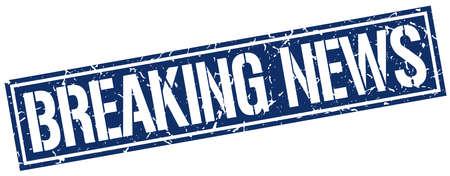 breaking: breaking news square grunge stamp