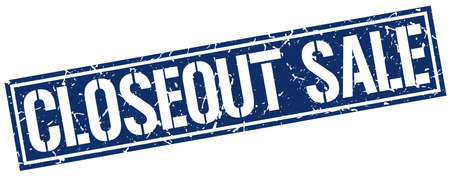 closeout: closeout sale square grunge stamp