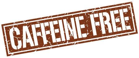 caffeine: caffeine free square grunge stamp