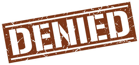 denied: denied square grunge stamp Illustration