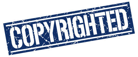 copyrighted: copyrighted square grunge stamp