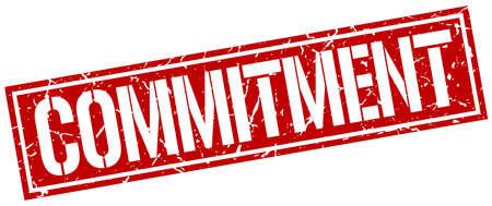 commitment: commitment square grunge stamp Illustration