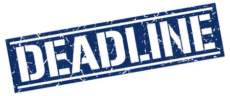 deadline: deadline square grunge stamp