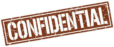 confidential: confidential square grunge stamp