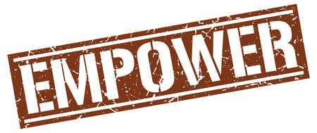 empower: empower square grunge stamp Illustration