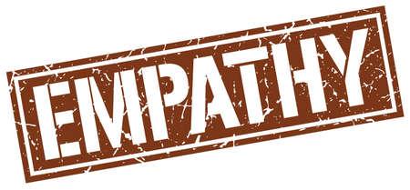 empatia: la empatía del sello del grunge cuadrado