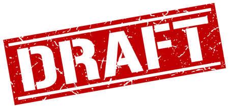 draft: draft square grunge stamp