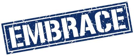 embrace: embrace square grunge stamp Illustration