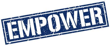empower square grunge stamp