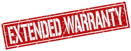 warranty: extended warranty square grunge stamp Illustration