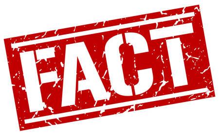 fact: fact square grunge stamp Illustration