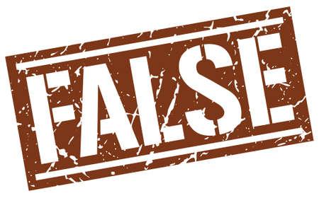 falso: false square grunge stamp