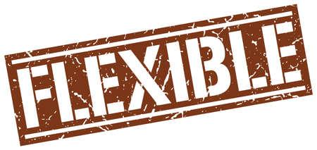 flexible: flexible square grunge stamp Illustration
