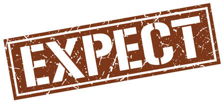 expect: expect square grunge stamp