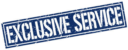 exclusive: exclusive service square grunge stamp