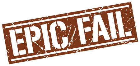 fail: epic fail square grunge stamp