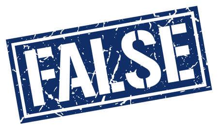false: false square grunge stamp