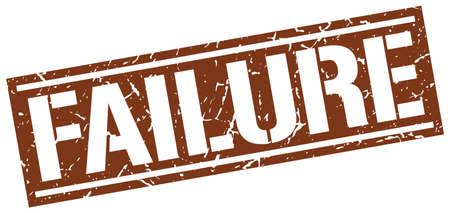 failure: failure square grunge stamp