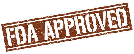 fda: fda approved square grunge stamp
