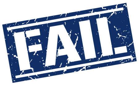 fail: fail square grunge stamp