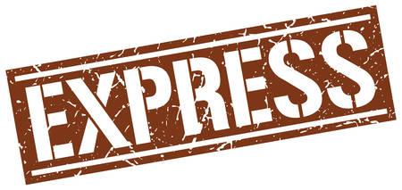 express: express square grunge stamp