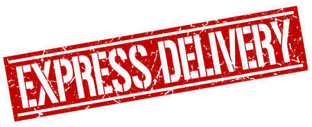 express: express delivery square grunge stamp