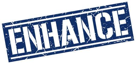 enhance: enhance square grunge stamp