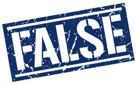 falso: falso sello cuadrado del grunge