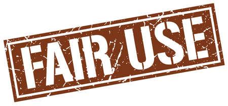 use: fair use square grunge stamp