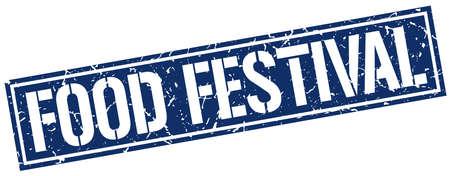 food festival: food festival square grunge stamp