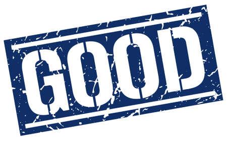 good: good square grunge stamp