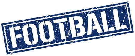grunge football: football square grunge stamp