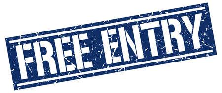 entry: free entry square grunge stamp Illustration
