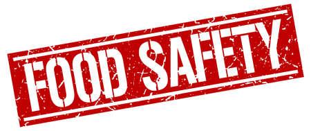 food safety: food safety square grunge stamp Illustration