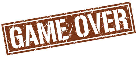 the game is over: game over square grunge stamp Illustration