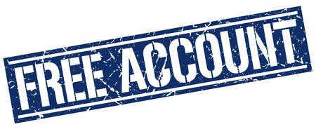 account: free account square grunge stamp