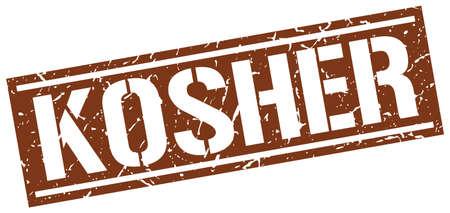 kosher: kosher square grunge stamp