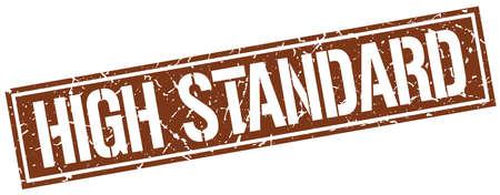 standard: high standard square grunge stamp