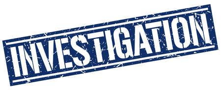 investigation: investigation square grunge stamp