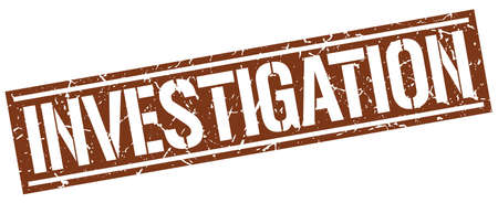 investigaci�n: investigation square grunge stamp