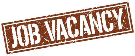 job vacancy: job vacancy square grunge stamp Illustration